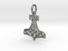 Thor's Hammer Pendant (precious and semi-precious  3d printed