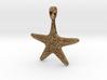 Starfish Symbol 3D Sculpted Jewelry Pendant 3d printed