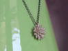 Spikey Succulent Pendant 3d printed Chain not included.