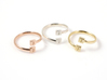Initial Wraparound Ring -Custom - Oval Band 3d printed Custom Initials ring in Rose Gold plated, Silver, and 14K Gold plated