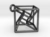 twisted Hypercube Pendant 3d printed