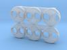 NW2 Sealed Beam Headlight Plate (N - 1:160) 6X 3d printed