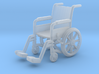 Wheelchair 01. HO Scale (1:87) 3d printed