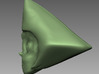 Steven Universe Peridot charm 3d printed Side view 3D Sculpt render in software