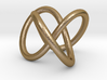Torus Knot Pendant 3d printed Polished Gold Steel