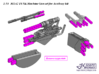 1/35 M1A2 TUSK Machine Gun set for Academy kit 3d printed