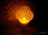 Space Rocket LED tealight lamp 3d printed Own 3D-Print with clear transparent PET.