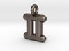 Gemini Symbol Keychain 3d printed