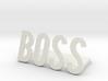boss logo1 desk bussiness 3d printed
