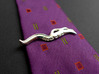 Caenorhabditis Nematode Worm Tie Bar 3d printed Caenorhabditis tie bar in polished silver