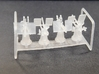 Oerlikon Depressed Mk4 Base USN x 4 1/144 3d printed First printed Oerlikons 1:144