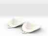 Cowboy Hat Earrings 3d printed
