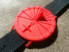 35N Sundial Wristwatch With Compass Rose 3d printed The 35N Model Printed in Red Nylon