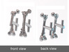 Femur Fracture and Fixation Cufflinks 3d printed Digital render of cufflinks in polished silver