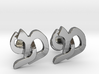 "Hebrew Monogram Cufflinks - ""Mem Pay"" 3d printed"