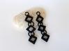 Diamond Drop Earrings 3d printed Black Diamond Earrings