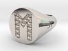 "Ring Chevalière Initial ""M""  3d printed"