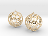 Earrings (set) Flower Ball 28 3d printed