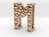 """Pendentif Initial, letter """"M"""" 3d printed"""