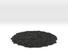 Drink coaster with floor - Voronoi #4 (8 cm) 3d printed