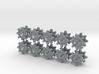 Checkmark Cog Boardgame Token (x20) 3d printed