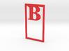 Bookmark Monogram. Initial / Letter  B  3d printed