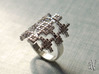 Lith Pattern Cross Ring 3d printed