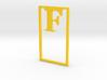 Bookmark Monogram. Initial / Letter F 3d printed