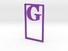 Bookmark Monogram. Initial / Letter G  3d printed