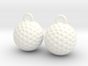 Golf Ball Earrings - Dangle 3d printed