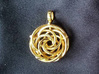 Vortex Pendant III (Precious Metal Release) 3d printed Thanks to axmd88 for this photo.  Featured here is 14k Gold Plated.