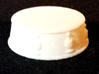 Chess Bishop Base - 1 inch 3d printed White Strong and Flexible - Photo on Black Fabric