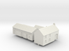 1:350 Two farm houses. 3d printed