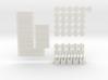 Mini Greenhouse-Dome Set #2 - long (clickable) 3d printed