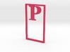 Bookmark Monogram. Initial / Letter P 3d printed