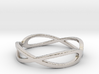 Aeon Double Infinity Ring Size 10.75 3d printed Platinum for Him or Her