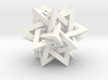 Orderly Tangle 03 - Tetrastar (Five Tetrahedra) 3d printed