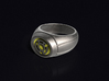 Yellow Lantern Ring 3d printed 3D render of the ring. Does not come with enamel paint applied.