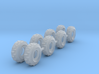 8 Set Of 61in Tractor Tires Z Scale 3d printed 8 set tractor tires Z scale