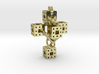 Crucifixum Fractalum Mathematicae - Argentum Unum 3d printed