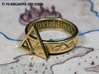 Ring - Triforce of Courage (Size 13) 3d printed Polished Brass