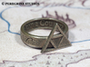 Ring - Triforce of Courage 3d printed Stainless Steel
