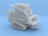 Bobcat With Tracks 1-87 HO Scale Unassembled  3d printed