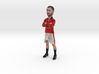 Eric Cantona with folded arms in Manchester United 3d printed