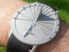 42.36N Sundial Wristwatch With Compass Rose 3d printed Printed In Polished Nickel Steel Around 4PM