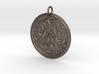 Norse Dear Medallion 3d printed