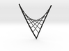 Parabolic Suspension Statement Necklace 3d printed