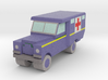 1/285 Land Rover S2 Ambulance x1 - RAF, Blue 3d printed