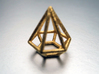Pendant 'Diamond 3D' 3d printed 3D Diamond pendant printed in polished gold steel