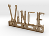 Vince Nametag with Posts 3d printed